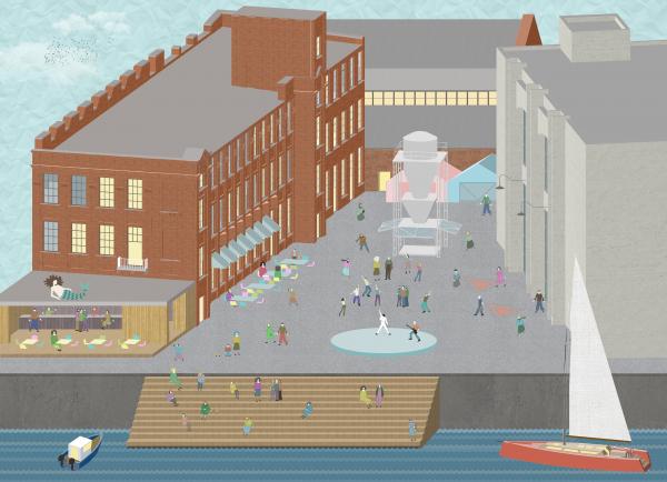 Набережная. Севкабель ПОРТ: проект-перспектива нового общественного пространства Проект © бюро Хвоя
