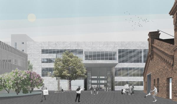 Корпус Б, проект. Севкабель ПОРТ: проект-перспектива нового общественного пространства Проект © бюро Хвоя