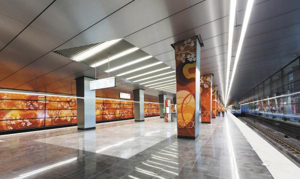 Cтанция метро «Мичуринский проспект». Фотография © ОАО «Метрогипротранс»