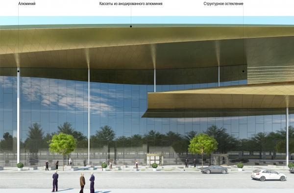 Центр единоборств, концепция, 2019. 1 вариант © ТПО «Прайд»