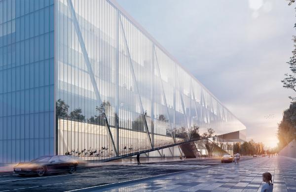 Центр единоборств, концепция, 2019. 1 вариант © Kamen architects