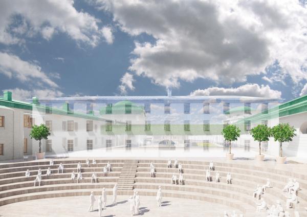 Концепция приспособления Конюшенного ведомства © MVRDV