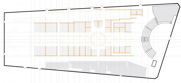Проект экспозиции фестиваля «Зодчество» в Гостином дворе: план 2 © Савинкин & Кузьмин