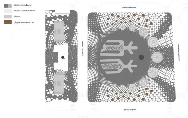 Концепция площади имени Ленина в Якутске Консорциум ТУЙМААДА | TUYMAADA (ТПО «Резерв», Якутпроект, ЛСТК-Проект)