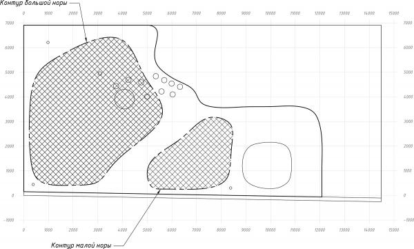 Пространство «Дюны». План пространства Архитектурное бюро «Дружба»