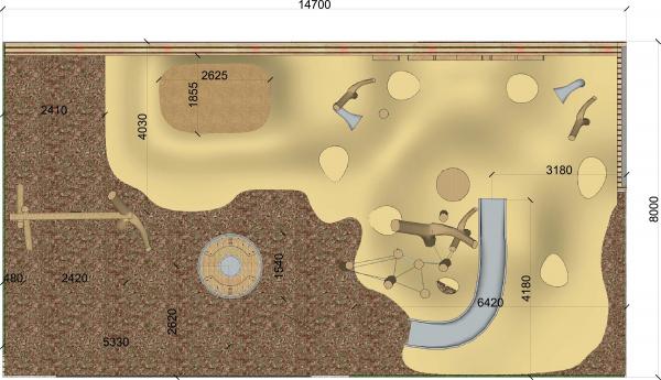 План пространства «Дюны» Архитектурное бюро «Дружба»