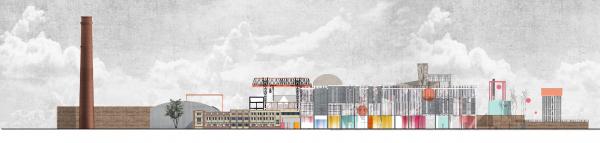 КБ11. Проект ревитализации бывшего завода «Сантехприбор» в Казани © предоставлено пресс-службой Российской молодежной архитектурной биеннале