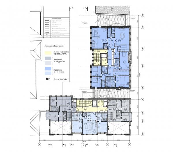 План 5 этажа. ЖК Дом Бакст, проект © АБ Гран