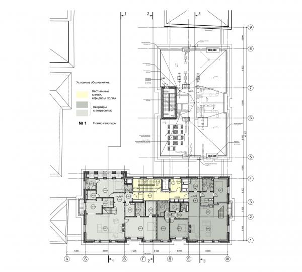 План 6 этажа. ЖК Дом Бакст, проект © АБ Гран