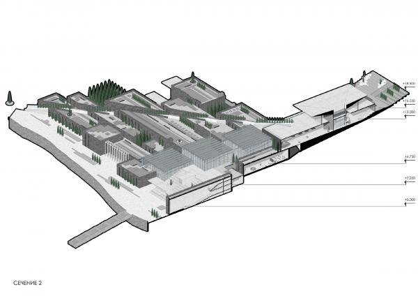 Сечение 2 Музейно-образовательный комплекс и музей славы Севастополя © Студия 44