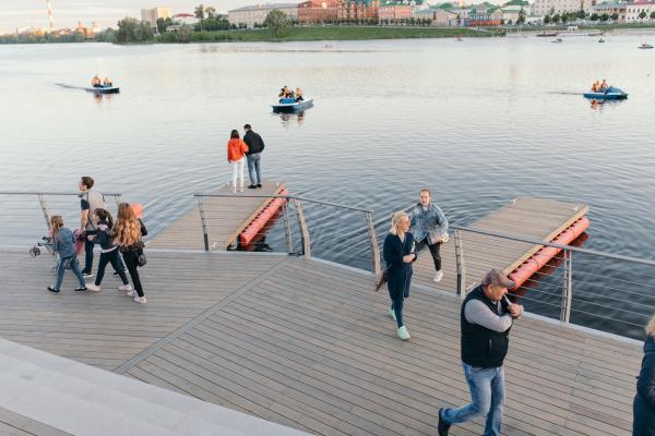 Развитие и благоустройство набережных системы озера Кабан Фотография предоставлена пресс-службой Программы развития общественных пространств республики Татарстан
