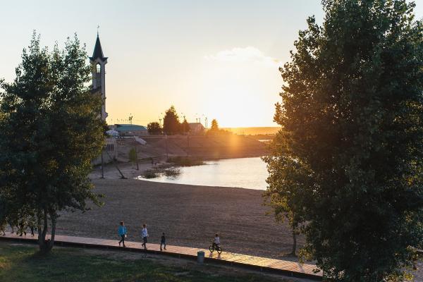 Набережная Тукая Фотография предоставлена пресс-службой Программы развития общественных пространств республики Татарстан