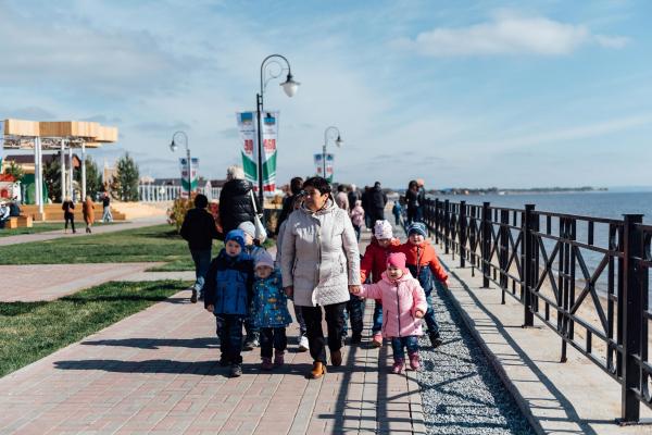 «Камское море» центральный городской пляж и набережная р. Кама © Фотография предоставлена пресс-службой Программы развития общественных пространств республики Татарстан