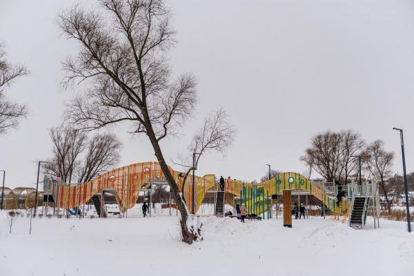 Набережная «Казан Су» © Фотография предоставлена пресс-службой Программы развития общественных пространств республики Татарстан