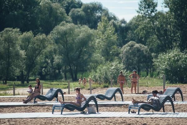 Благоустройство городского пляжа в Зеленодольске Фотография предоставлена пресс-службой Программы развития общественных пространств республики Татарстан