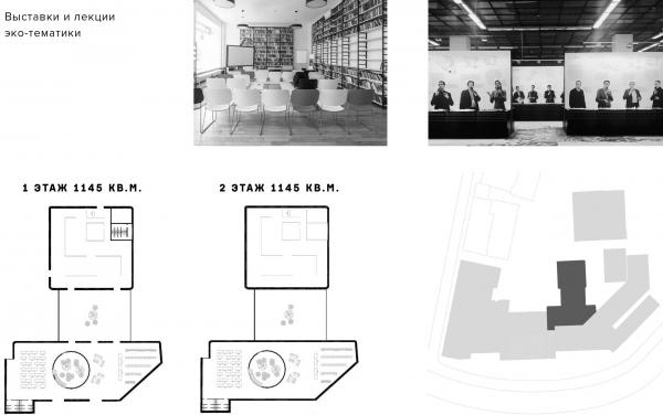 Выставочный зал/коворкинг. Проект №1: Город-сад на Плутоне с технологиями XXI века. Проект победитель © RE (New)