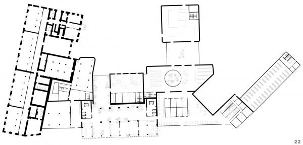 Функции совмещенные 1 этаж. Проект №1: Город-сад на Плутоне с технологиями XXI века. Проект победитель © RE (New)