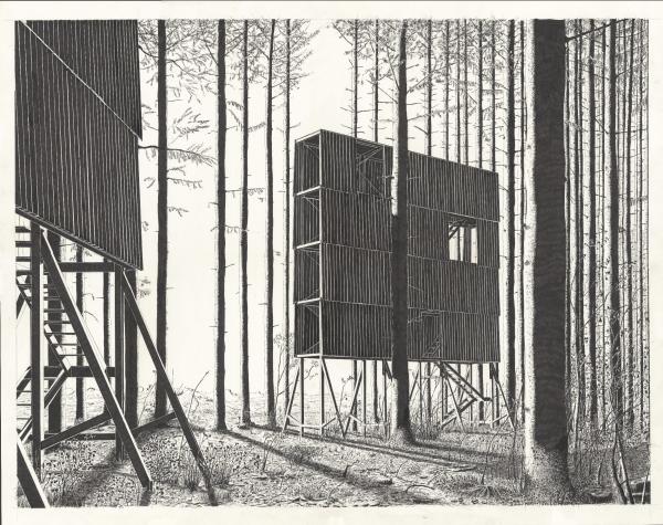 Stelzenhaus III (дом на сваях). Автор: Денис Андернах (Denis Andernach), Германия