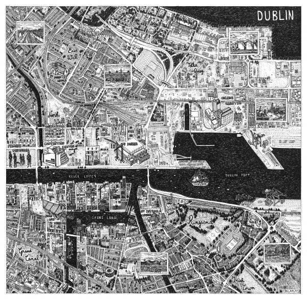 Квартал Одлумс, генеральный план для музея и художественного центра в порту Дублина (Odlums quarter, masterplan for a museum and art hub at Dublin port). Автор: Сара Деланчи (Sarah Delanchy), Франция