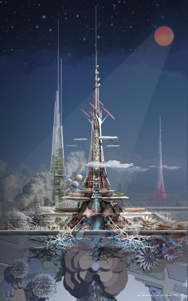 «Башни Феникс» (The Phoenix Towers). Автор: Laurie Chetwood (Laurie Chetwood), Великобритания
