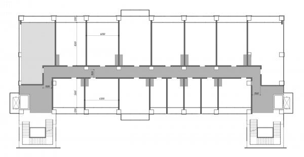 Пример гибкой планировки этажа. Проект №2: Digital-кластер, синергия технологий и творчества © RE (New)