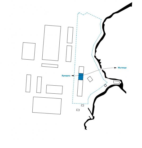 Легенда II. Ворота в город. Проект развития территории Мытищинской Ярмарки © Samsonov Design