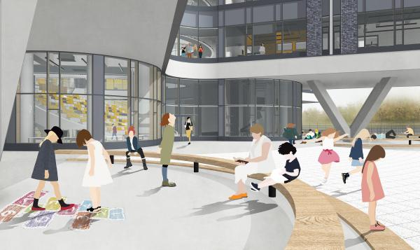 Сезонные площадки для занятий. Школа Wunderpark © Archstruktura/предоставлено PR-студия «ЛЮДИ»