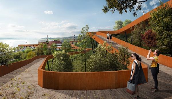 Концепция развития Петровской набережной в Воронеже  Wowhaus, TOU