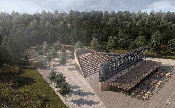 Амфитеатр. Рекреационная зона «Волкуша» © AI-architects