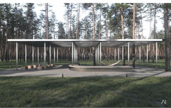 Зона отдыха. Рекреационная зона «Волкуша» © AI-architects