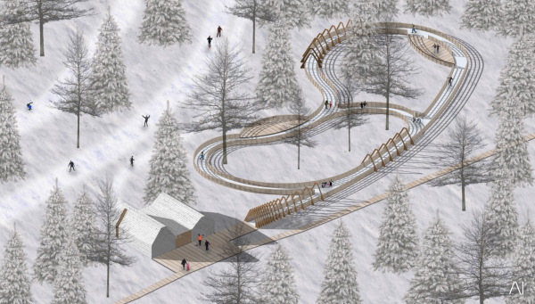 Каток. Рекреационная зона «Волкуша» © AI-architects