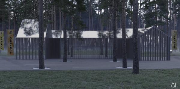 Эко-школа. Рекреационная зона «Волкуша» © AI-architects
