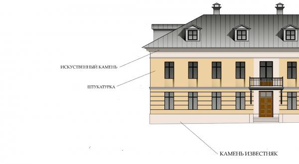 Материал отделки фасадов. ЖК «Меценат» в Кадашах © Студия Уткина