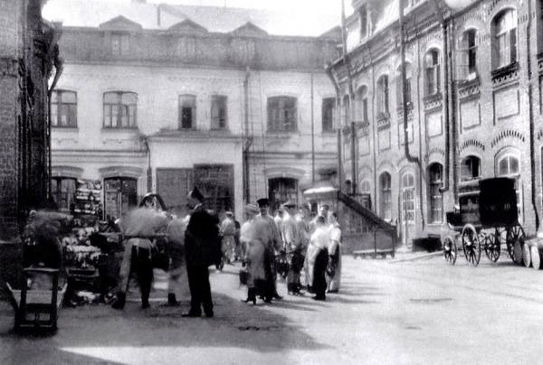 Фабрика Григорьева. Вид от въездных ворот,  1910 Предоставлено Студией Уткина