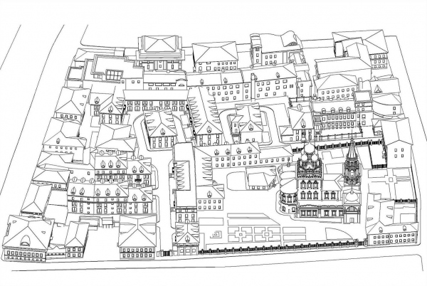 3D вид. ЖК «Меценат» в Кадашах © Студия Уткина