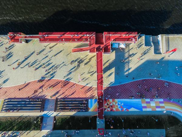Набережная «Красный Ключ» Фотография предоставлена пресс-службой Программы развития общественных пространств республики Татарстан