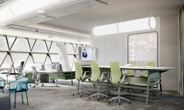 Дизайн-концепция новой штаб-квартиры телекомпании НТВ © Lifeforms