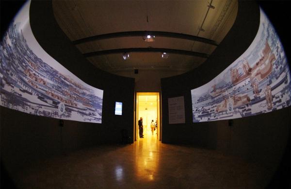Диарама «Рабочей группы идеальных пространств». Выставка «Общественная архитектура – будущее Европы», ГНИМА Фотография: Архи.ру