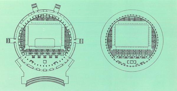 Планы 1-го и 2-го этажа. Спортивно-концертный комплекс «Петербургский» Предоставлено М.Я. Резниченко