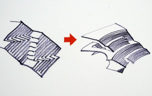 Эскизы главной лестницы. Итог. Студия 44. Анфилада. 02.2020 Фотография: Архи.ру