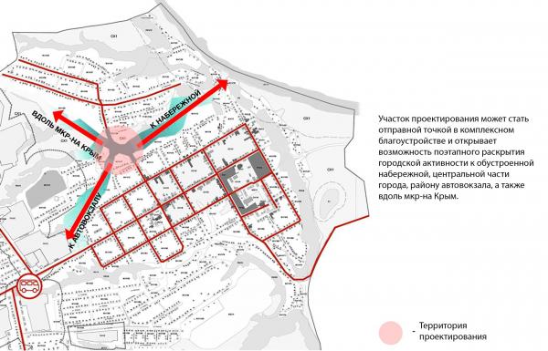 Перспектива развития территории. Создание парка «Крымская горка» в г. Новохоперск © ПГС Проект