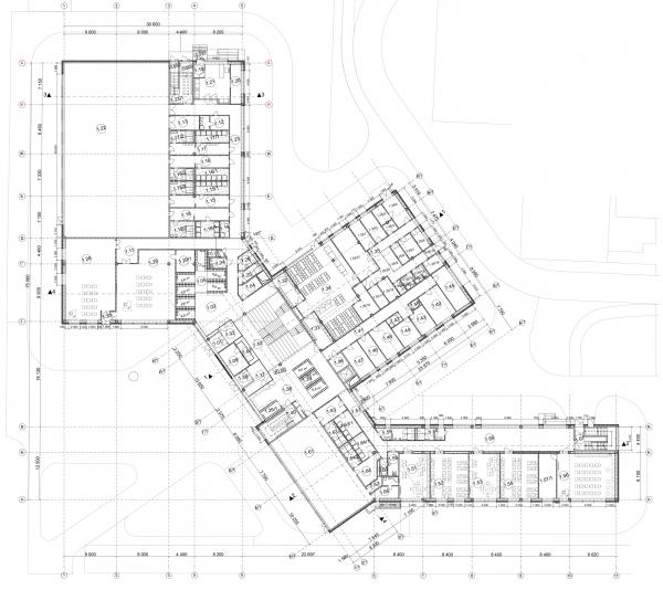 План 1-го этажа. Общеобразовательная школа на 275 мест © Архитектурное бюро ASADOV, Академпроект