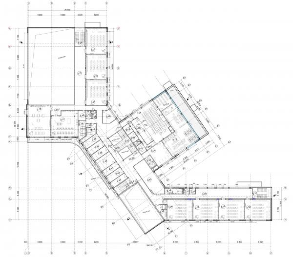 План 2-го этажа. Общеобразовательная школа на 275 мест © Архитектурное бюро ASADOV, Академпроект