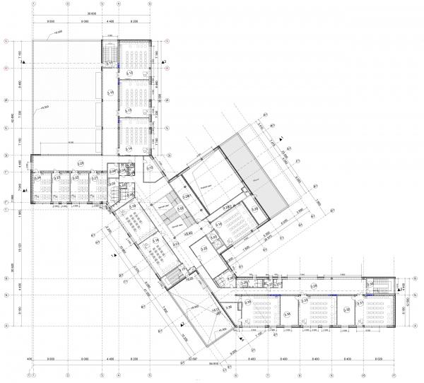 План 3-го этажа. Общеобразовательная школа на 275 мест © Архитектурное бюро ASADOV, Академпроект