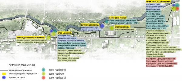Карта-схема проектной транспортной, пешеходной и велосипедной организации территории, в том числе организация парковок. Соляная верста © ISAEV Architects