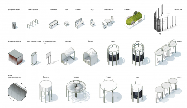 Малые архитектурные формы. Бульвар Академика Кикоина © AБ «Вещь!»