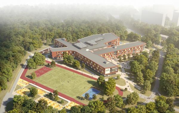 Общеобразовательная школа на 2100 мест, Троицк Архитектурное бюро Асадова