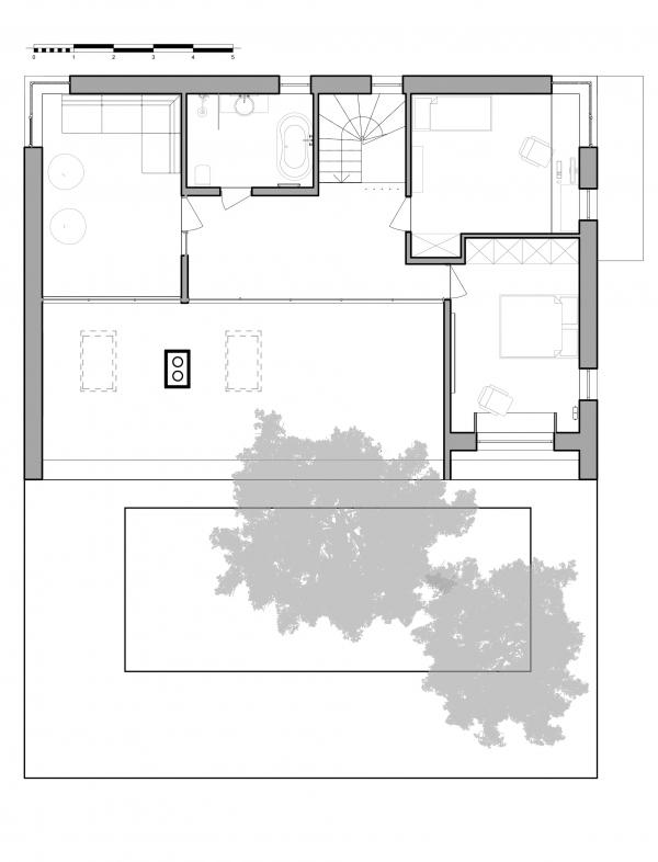 План 2-го этажа. Горка Дом © Snegiri Architects