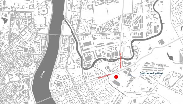 Ситуационный план. Жилой дом на Заневском проспекте © Архитектурное бюро «А.Лен»