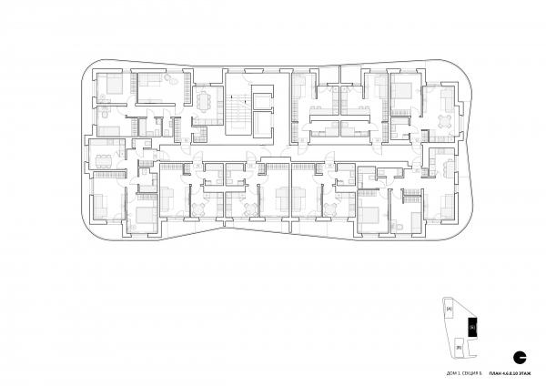 Квартал на берегу моря © Архитектурное Бюро ОСА